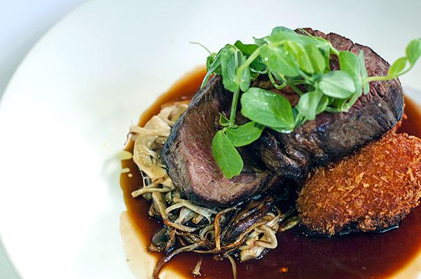 Fillet Steak over Mushrooms