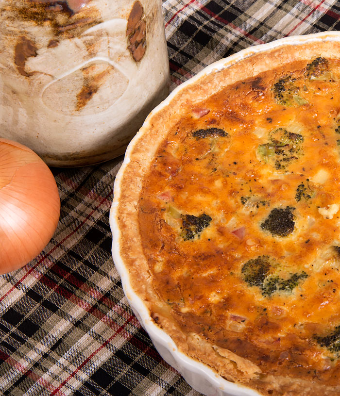 Ham, Broccoli and Cheese Quiche