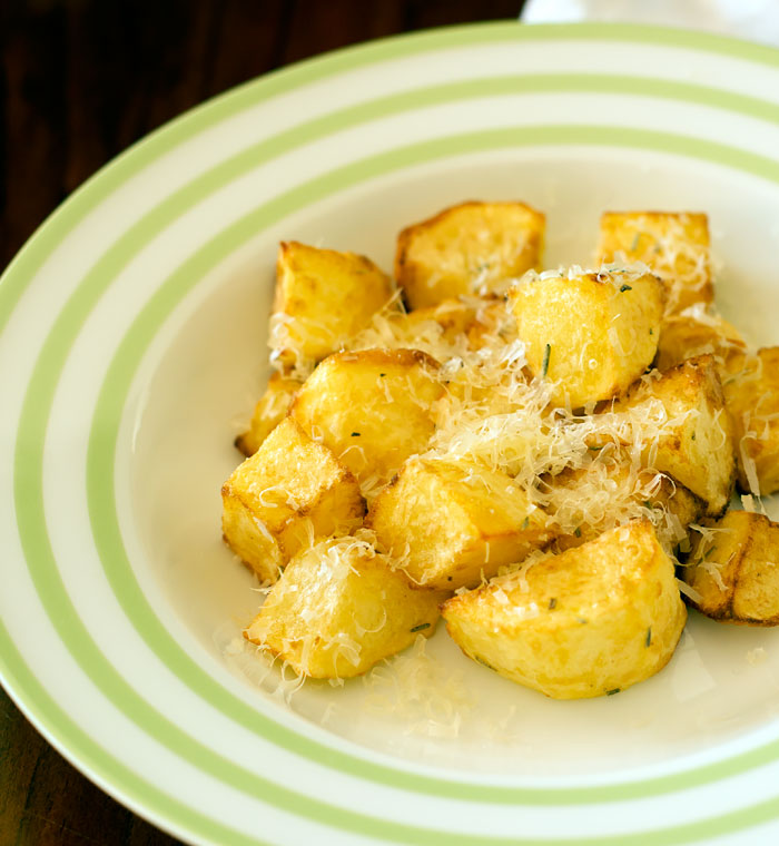 Air Fryer Potatoes with Rosemary and Parmesan Cheese