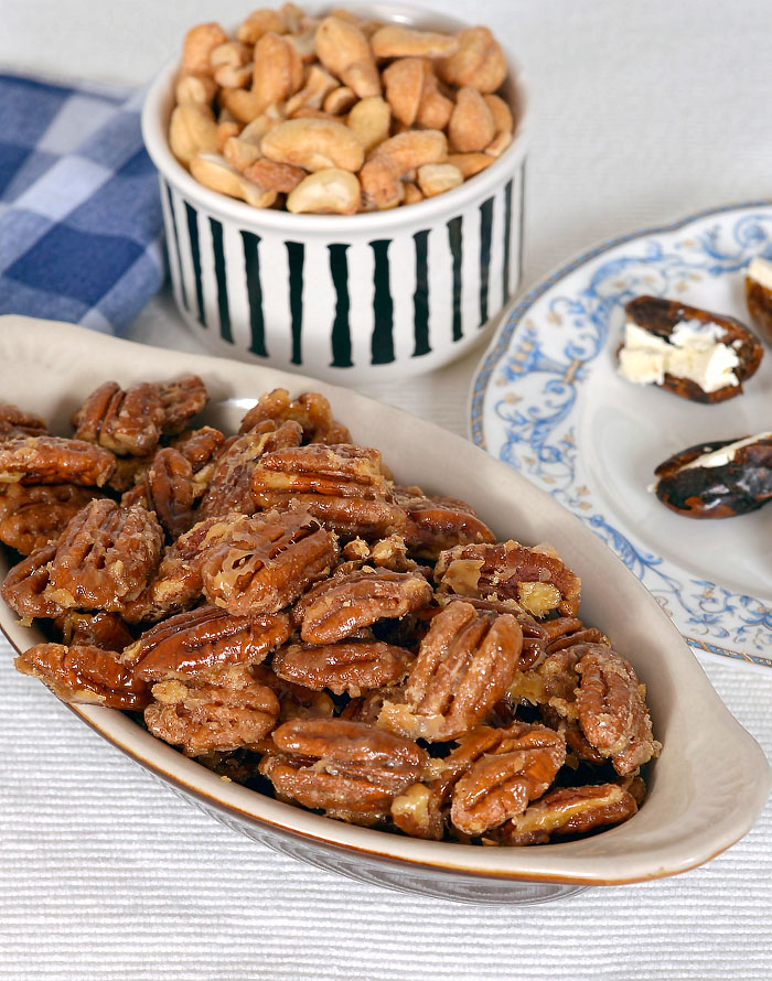 Maple Syrup Candied Pecans