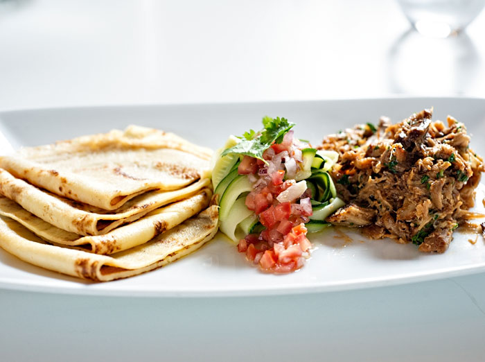 Crepes with Pulled Pork