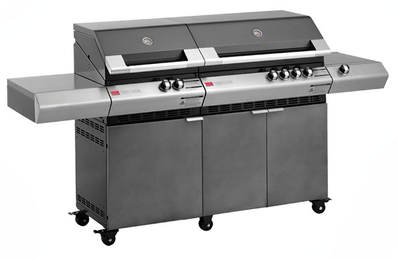 Ziegler & Brown Turbo Classic 6 Burner on Side Burner Cart