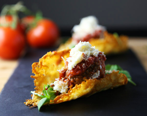 Meatball Tacos with Parmesan Shell - Using Parmesan Cheese to make the taco shell gives this such a unique flavor and the shell holds up way better than any regular taco shell!