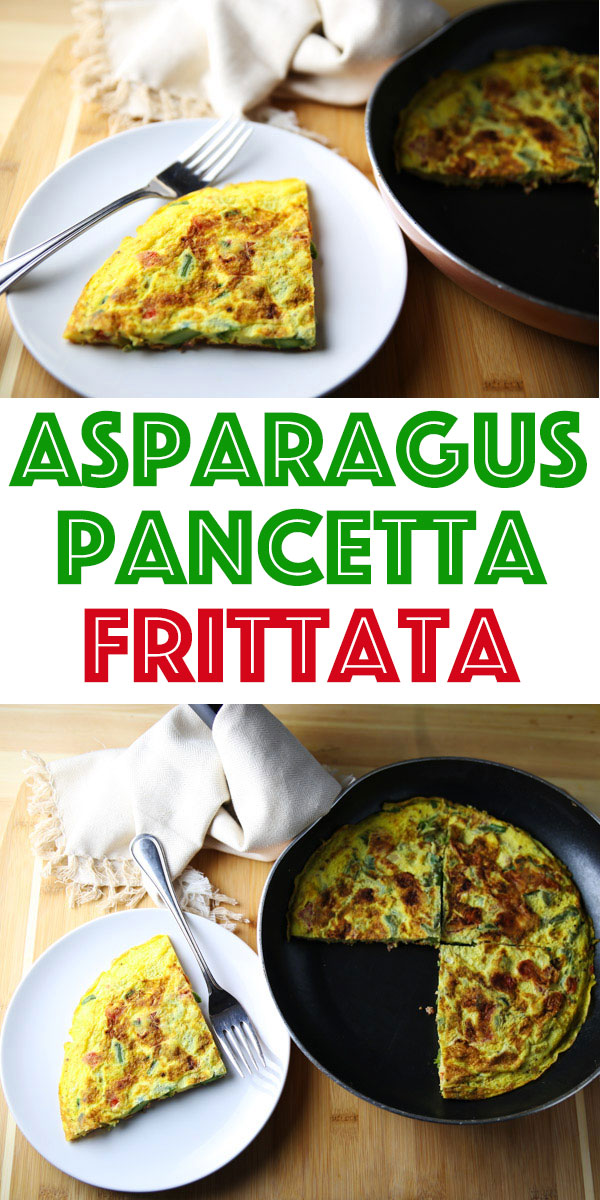 This Asparagus and Pancetta Frittata is such an easy breakfast to make and is so full of flavor!