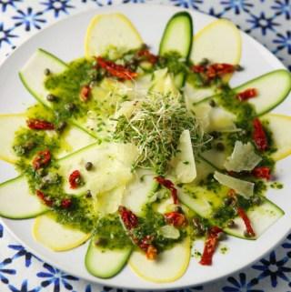 Yellow Squash and Zucchini Carpaccio