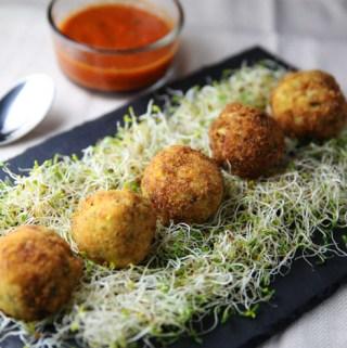 Zucchini and Yellow Squash Ricotta Fried Balls