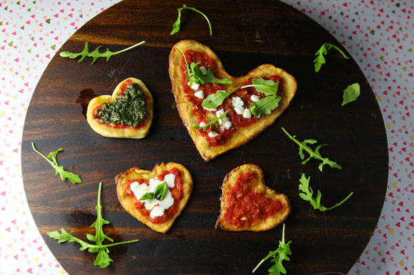 Show your loved one how much you care by making this Valentine's Heart Pizza!