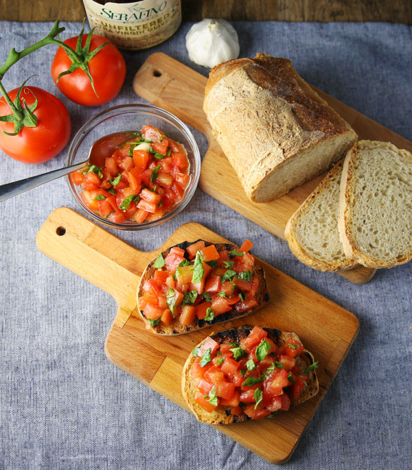 Authentic Italian Bruschetta is so easy to make. All you need is a few simple fresh ingredients to make this delicious appetizer!