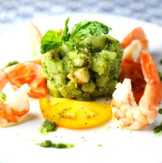 Warm Shrimp and Potato Salad with Basil Pesto