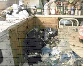 Hoarding made this kitchen unusable