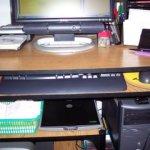 A desk sorter, a basket and a filing cabinet….