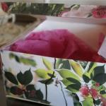 Re-purposing a tea box for home organization