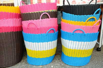 colorful baskets