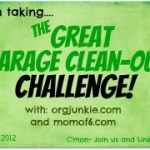The Great Garage Clean Out Challenge ~ Week Two