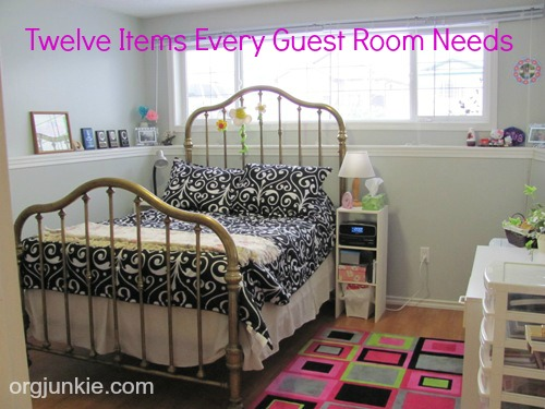 Twelve Items Every Guest Room Needs