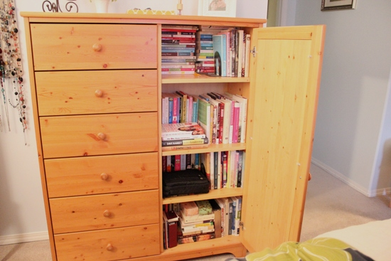 Small Organized Spaces: Purging Books to Make Room for Other Things at I'm an Organizing Junkie blog