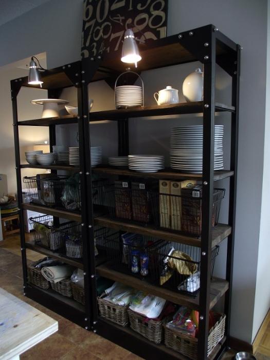 aka design kitchen restaurant style shelves