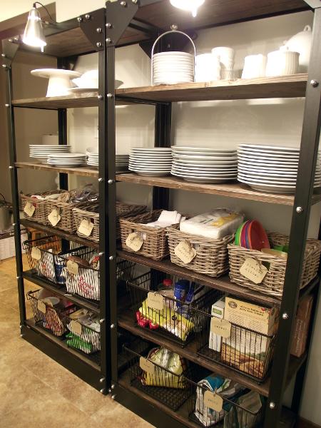 Open Pantry Using Bookshelves: Organizing Open Shelves