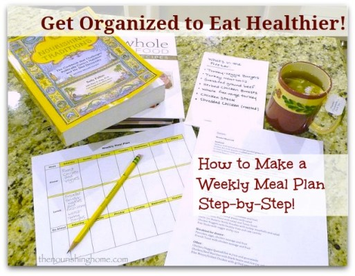 Get Organized to Eat Healthier!