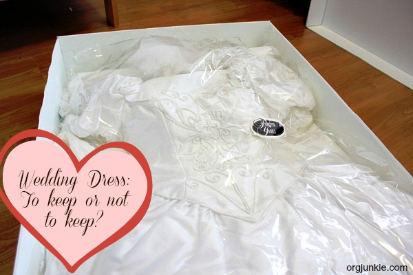 Wedding Dress To Keep Or Not To Keep