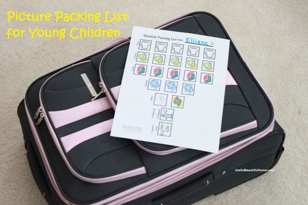 Picture Packing List for Children