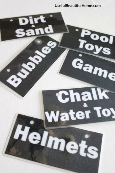 Free Garage Toy Printable Labels