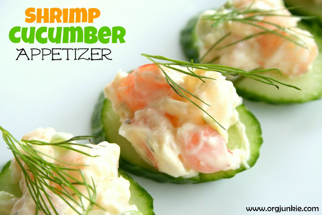 Shrimp Cucumber Appetizer