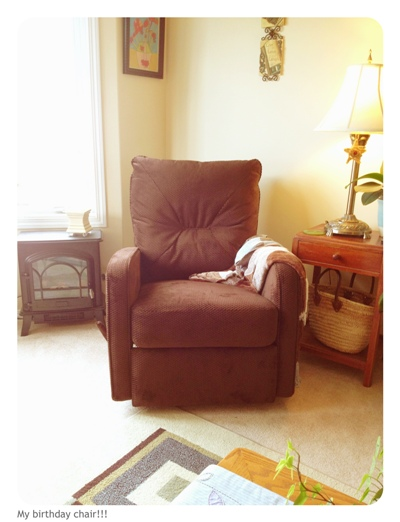 my birthday chair