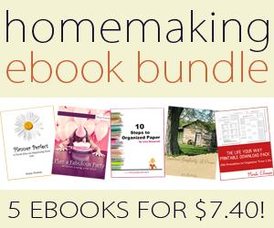 homemaking ebook bundle of the week at orgjunkie.com