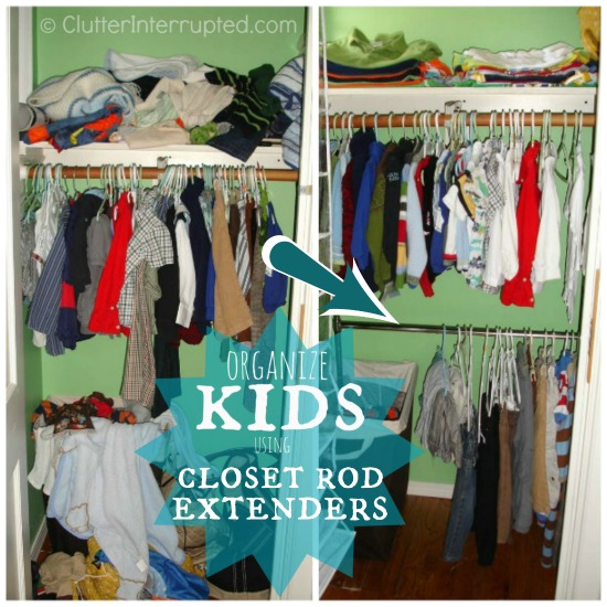 Merveilleux Organize Kids Using Closet Rod Extenders