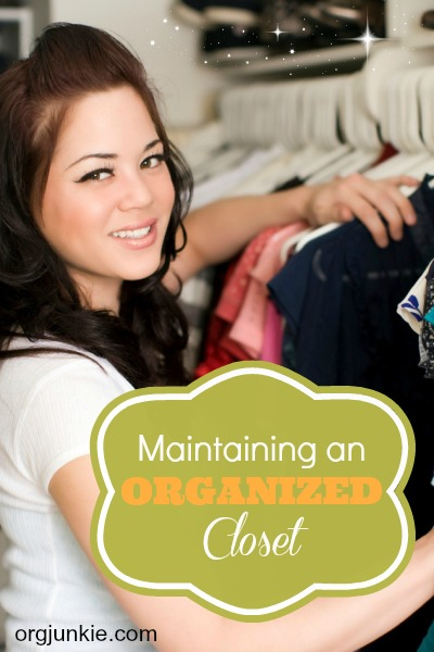 Maintaining an Organized Closet