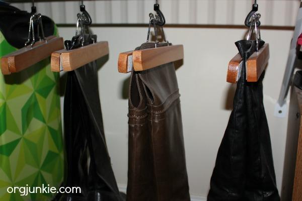 pant hanger boot storage
