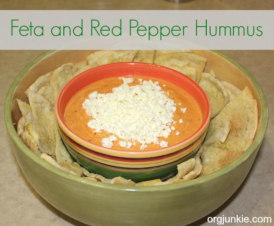 Feta and Red Pepper Hummus