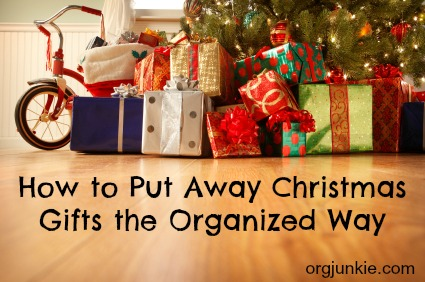 How to put away Christmas the organized way
