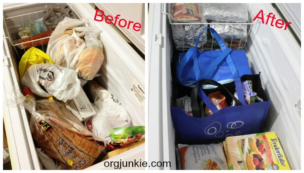 Freezer Organization Before and After
