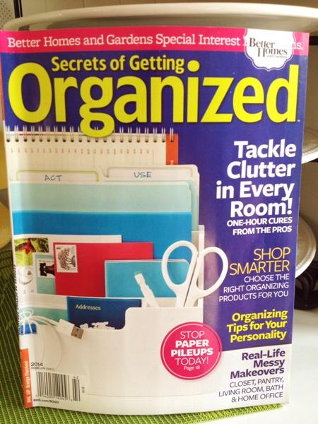 Secrets of Getting Organized magazine at I'm an Organizing Junkie