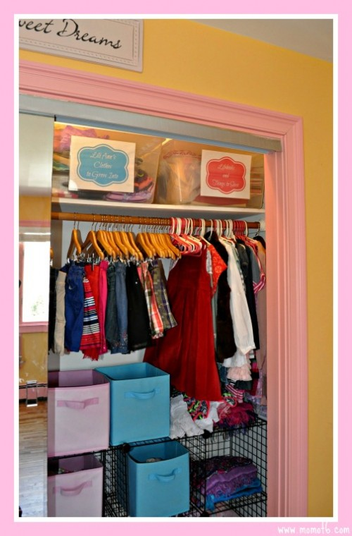Girls-Closet-with-Bins 2