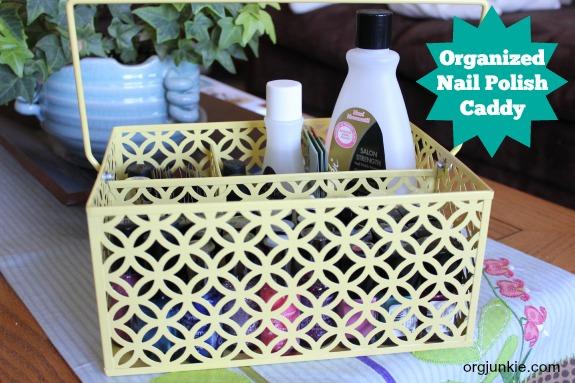 Organized Nail Polish Caddy