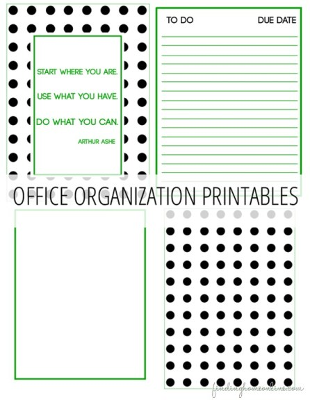 Keeping Up With It All Free Office Organization Printables More - Organization printables
