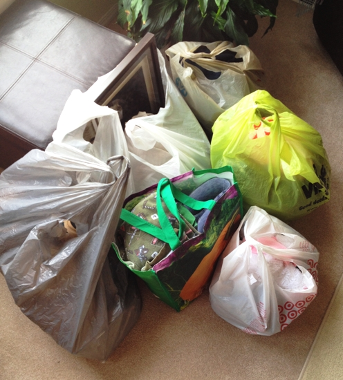 Purge Pile for April at orgjunkie.com