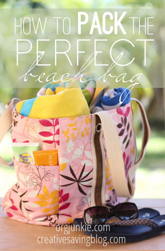 How to Pack the Perfect Beach Bag at orgjunkie.com