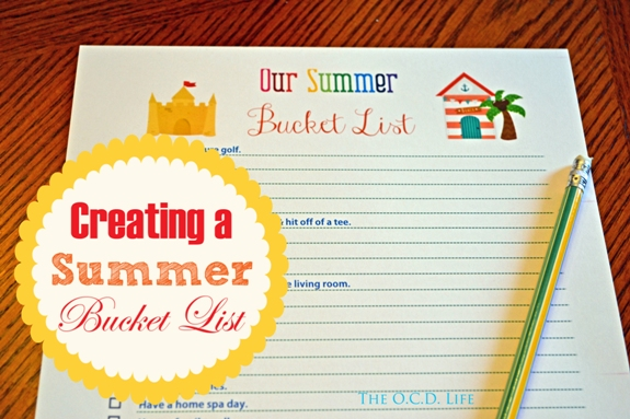 Creating a Summer Bucket List