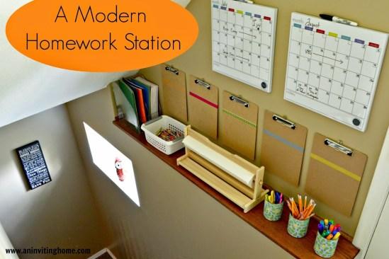 Modern Homework Station