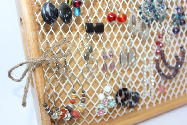 DIY Hook Earring Organizer 3