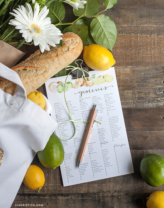 Grocery List Printable