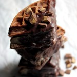 Chocolate Peanut Butter Cup Waffle Ice Cream Sandwiches