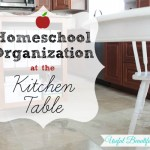 Homeschool Organization at the Kitchen Table