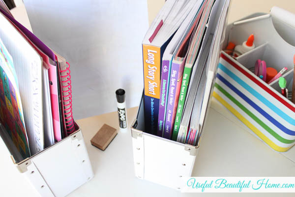 How I keep our homeschool life organized at the kitchen table