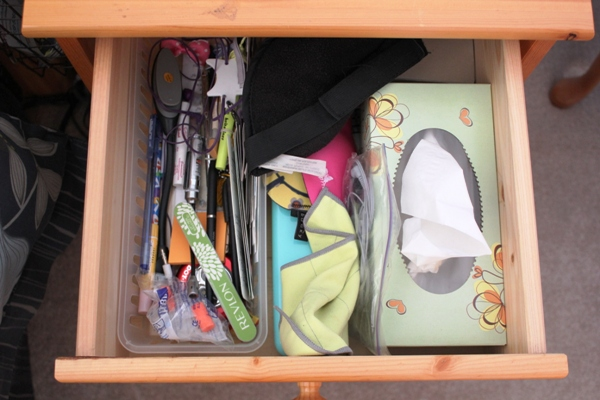 Nightstand drawer before
