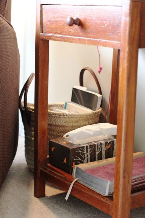 Living Room Quiet Corner Organization 3